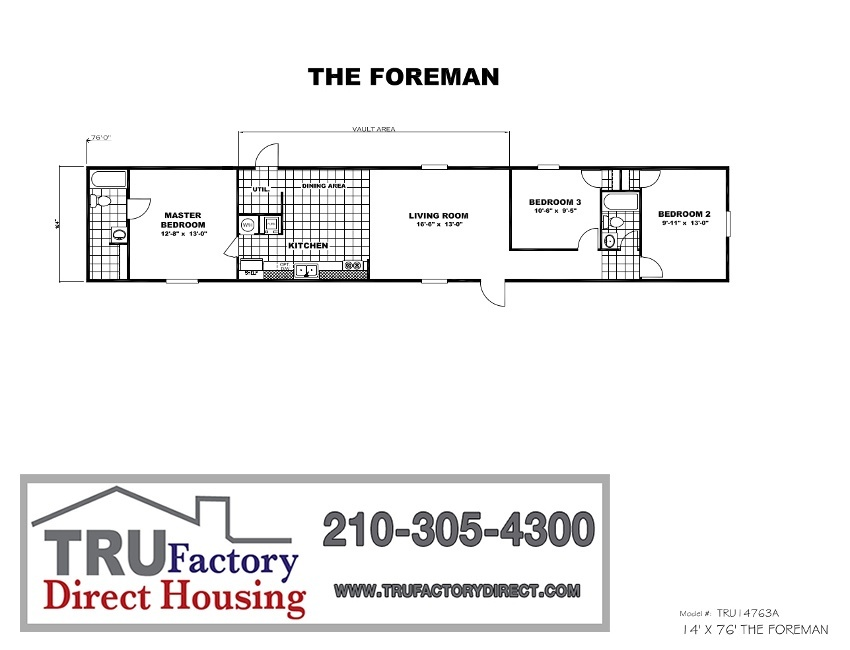 Printable Floor Plan. Mobile Homes For Sale in Corpus Christi  TX   TRU Homes