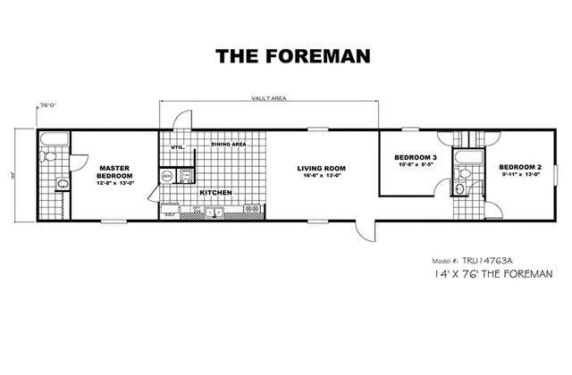 Foreman printable floorplan crop. Mobile Homes For Sale in Corpus Christi  TX   TRU Homes
