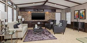 Mobile Homes - Living room- Singlewide