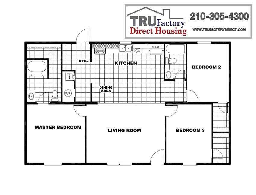 Printable Floor Plan. 3 2 And 4 2 Mobile Homes For Sale In Houston  TX   TRU